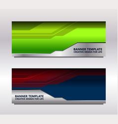 modern web banner vector image vector image