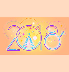 2018 new year abstract numerals vector image
