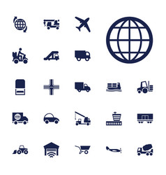 22 transport icons vector