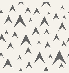 abstract seamless pattern of arrows vector image