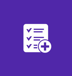 Add new task icon vector