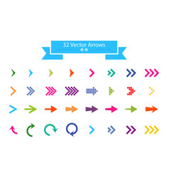 arrows set arrow icon arrow colorful colored icon vector image