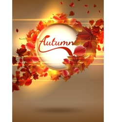 Autumn background with lights plus EPS10 vector image