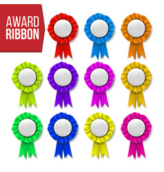 award ribbon set certificate banner vector image