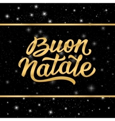 Banner with Merry Christmas lettering in italian vector image