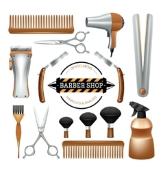 Barbershop tools set vector