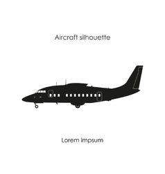black silhouette a sports plane vector image