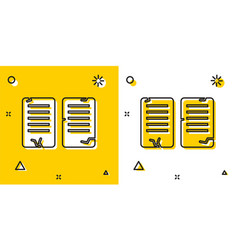Black the commandments icon isolated on yellow vector