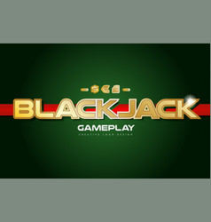 Blackjack word text logo banner postcard design vector