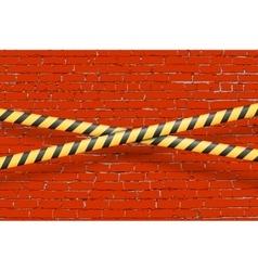 Blue brick wall vector