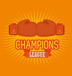 Boxing sport champions league vector