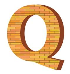 brick letter Q vector image
