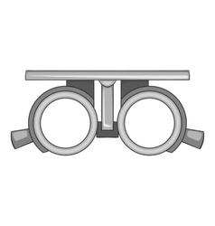 Checking vision icon gray monochrome style vector image