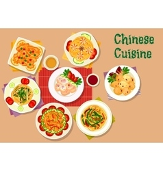 Chinese cuisine icon for restaurant menu design vector