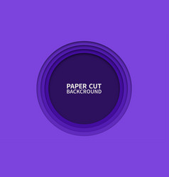 circle paper cut background wavy purple layers vector image