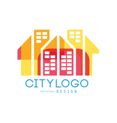 city logo original design abstract building vector image