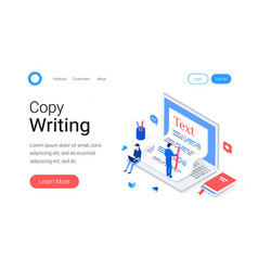 copywriting blogging isometric concept vector image