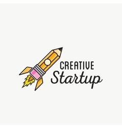 Creative Startup Rocket Abstract Logo vector image