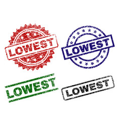 Damaged textured lowest seal stamps vector