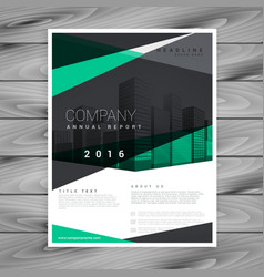 Elegant geometric shape company brochure design vector