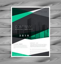 elegant geometric shape company brochure design vector image