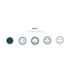 Emot icon in different style two colored vector