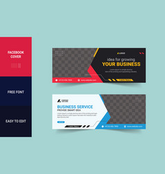 Facebook cover design corporate template vector