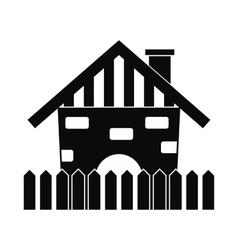 Farm house icon vector image