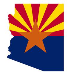 Flag in map arizona vector