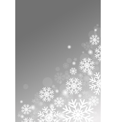 Gray background with snowflakes vector image