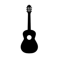guitar icon acoustic musical instrument vector image