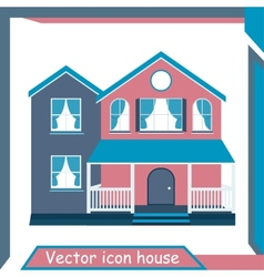 Icon Minimalistic Modern Home vector image