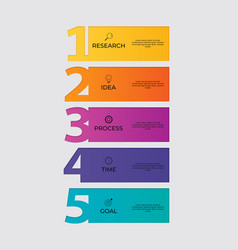 infographic template with options or steps for vector image