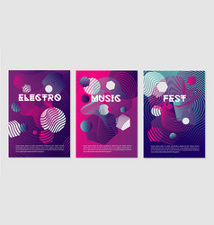 Invitation templates for night club party with vector