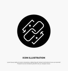 Link chain url connection link solid glyph icon vector