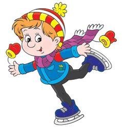 Little skater vector image