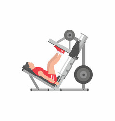 Man doing leg presses vector