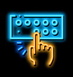 Musical console neon glow icon vector