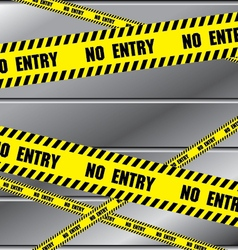 No entry sing with aluminium metal background vector