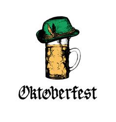 oktoberfest symbols for beer festival vector image