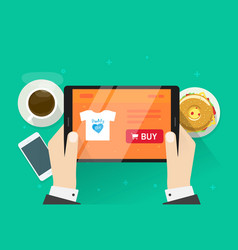 online shopping flat cartoon vector image