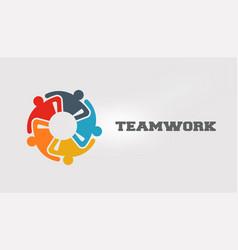 people icon in varios colors teamwork workers vector image
