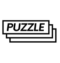 Puzzle stamp on white vector