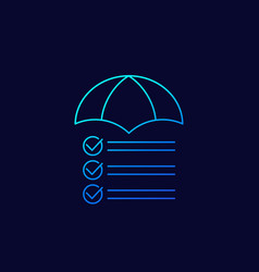 risk management icon linear design vector image