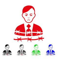 sad businessman arrest icon vector image