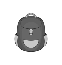 School backpack icon black monochrome style vector