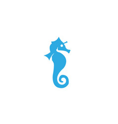 seahorse a small marine fish with segmented bony vector image