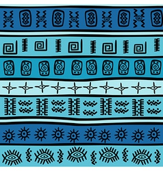 Seamless with tribal motifs vector image