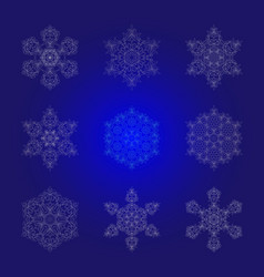 set isolated outline of the ornament in the form vector image