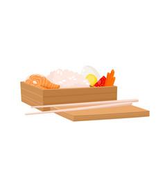 set of japanese bento box isolated on white vector image